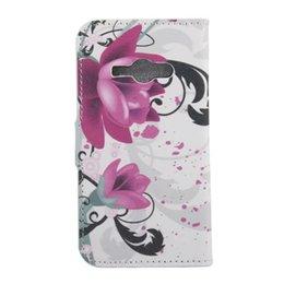 Wholesale Uk Flag Paris - Cartoon Flower Flip Wallet Leather Pouch Cases For Samsung J1 Ace J110 UK USA Flag Zebra Butterfly Anchor Owl Litchi Paris Tower TPU Cover