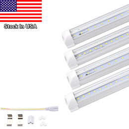 Wholesale Led Light 8ft 42w - V-Shaped T8 Led Tube Lights 4FT 28W 5FT 36W 6FT 42W 8FT 65W Integrated Cooler Door Led Fluorescent Double Glow lighting