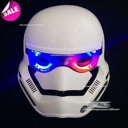 Wholesale Easter Led Lights - 5 styles Star Wars masks Darth vader stormtrooper LED Light up masks for star wars cosplay E251