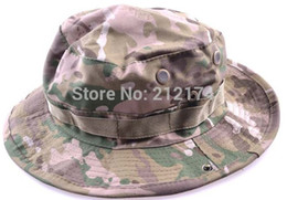 Wholesale Marines Military Hats - Wholesale-CP Fishing Hunting Army Marine Bucket Jungle Cotton Military Boonie Hat Cap