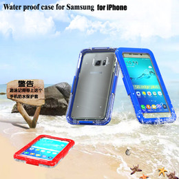 Wholesale Apple Iphone 4s Underwater - Waterproof Case Diving Underwater Watertight Cover For iPhone 6 6S Plus SE 5 5S 4 4S Samsung Galaxy S7 edge S6 edge Note 5 4 Hard Full Clear