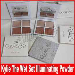 Wholesale Christmas Color Palettes - Kylie Jenner The Wet Set Pressed Illuminating Powder 4 Colors Bronzer & Highlighter Christmas Holiday Collection by Kylie Cosmetics