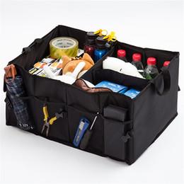 Wholesale Folding Trunk Organizer - Car Trunk Storage Container Bag Waterproof Multi Function Folding Organizer Toy Storages Box Black 12 54bm C R