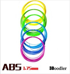 Wholesale Pens Abs Plastic - 10m Pack 3D Printer Filament ABS 1.75mm Plastic Rubber Consumables Material 3D Print Pen Supplies hight quality free shipping