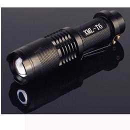 Zoomfokus taschenlampe online-UltraFire 2000 Lumen CREE XML XM-L T6 LED Tragbare Zoomable Einstellbarer Fokus 18650 Batterie Taschenlampe Lampe Licht (SK88) SCHWARZ