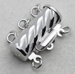 collares de perlas de tres capas Rebajas Venta caliente tres capas collar de perlas pulsera hebilla de aleación YPJ72