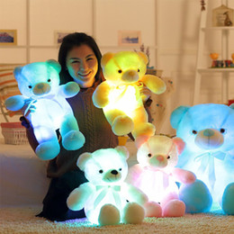 Wholesale Light Up Toys For Kids - 50cm Creative Light Up LED Teddy Bear Stuffed Animals Plush Toy Colorful Glowing Teddy Bear Christmas Gift for Kids OTH691