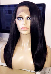 Wholesale Cheap Real Human Hair Wigs - Full Lace Wig Natural Hairline 100% Real Human Hair Lace Wigs Free Shipping Cheap Price Lace Wigs Best Quality