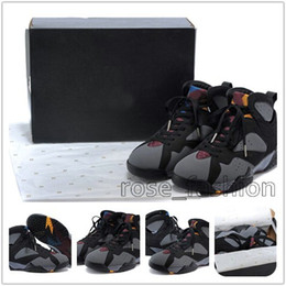 Wholesale Boot Footwear - Wholesale Retro 7 French Blue Basketball Shoes VII Training Cheap 7s sports Sneakers Best Athletics Boots Discount Men Trainers Footwear