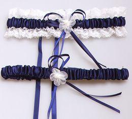 Wholesale Organza Satin Garter - 2017 hot sell new style sexy satin Garters lace bowknot Leg ring Wedding Bridal Garters yzs168