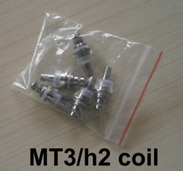 Wholesale Replacement Coils For Cartomizer - MT3 H2 Replaceable Atomizer Coil 1.8 2.4 2.8 Ohm For MT3 H2 Cartomizer Clearomizer Replacement Detachable Core Head