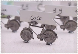 Wholesale Bicycle Party Decorations - 20pc Vintage Bicycle Name Number Table Place Card Holder For Wedding Party Favor