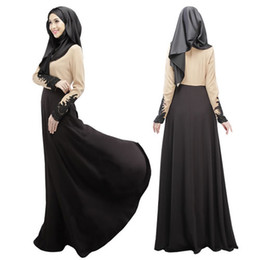 Wholesale Muslim Clothing Sleeves - Fashion Muslim prayer service New Arab Women Robes Long Sleeves Islamic Ethnic Clothing free shipping