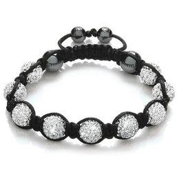 Wholesale Disco Ball Bracelets Resin - 2015 Gift Shamballa Bracelets Friendship Disco Ball Bracelet Pave Crystal Beads Macrame Bracelets & Bangles