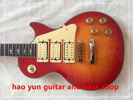 Wholesale Custom Stocks - in stock Classic custom shop Ace frehley signature 3 pickups Electric Guitar, custom LP Figured Maple top guitar,Wholesale