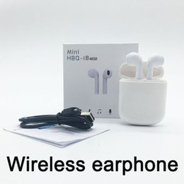 Wholesale Iphone Updates - Hbq i7 updated i8 Mini TWS Bluetooth 4.2 Headphones Twins Wireless Headset Earbud earphone For Android Samsung Iphone