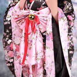 Wholesale Sakura Dress - Wholesale-Gorgeous Black Sakura Pattern Silk Deluxe Wa Lolita Kimono Dress