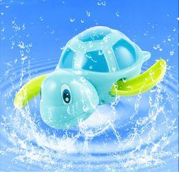 Pequenos animais de brinquedo on-line-Novos bebês nascidos nadar tartaruga cadeia ferida-up pequeno animal do bebê crianças brinquedos de banho brinquedo clássico piscina jogar brinquedo banho