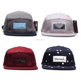 Wholesale Blue Diamond Flats - 20 Style Five 5 panel diamond snapback caps hip hop cap flat hat hats for men casquette gorras planas bone aba reta toca