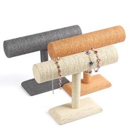 Tier stand online-Envío Gratis Cuerda de Hilo Brazalete Brazalete Soporte de Exhibición Estante de Un Solo Nivel Titular de Collar Diadema Exhibición de la Joyería t-bar