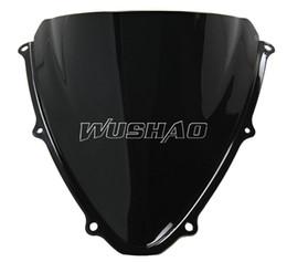 Wholesale Suzuki Gsxr Windscreen - Motorcycle Double Bubble Windshield WindScreen For 2006-2007 Suzuki GSXR600 GSXR750 GSXR 600 750 K6 06 07 Black