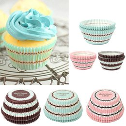 Wholesale Mini Baking Cups - NEW 50Pcs Lot Mini stripe Cake Cup Liners Muffin Kitchen Greaseproof Paper Cupcake Cases Baking Decorating Mold Tools