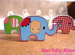 En gros (300pcs / lot) Bouton mignon d'éléphant, perles d'éléphant de mode, bouton de couture, bouton en bois d'éléphant ? partir de fabricateur