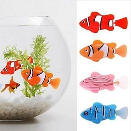 Wholesale Fish Support - Wholesale-5 colors Battery Powered Robo Toy Activated Electronic Fish Robotic Pet Cute Fun Robofish Support Drop Shipping