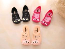 2019 sapatos de bebê sola Para mini sandálias Melissa geléia sapatos de bebê gato russa ploughboys buraco sandálias chinelos à prova d 'água macio slip-resistente sola # 725 sapatos de bebê sola barato