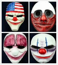 Wholesale Hot Fashion Games - Halloween Horror Mask Game PAYDAY 2 The Heist Dallas Mask Cosplay Props Halloween Mask Collection Fashion Game Marsk Gift For Boy Hot Sell