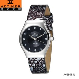 Wholesale Time Watch Love - Actimer love time off brand female table quartz movement ladies watch genuine leather strap waterproof