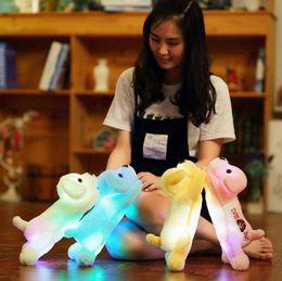 Wholesale Toy Animal Night Light - 35cm Plush Dog Led Glow Light Night Stuffed Animals Lovely Creative Cute Soft Doll Puppy Dogs OOA3646