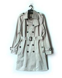 Wholesale Trenchcoat Women Autumn - Wholesale-Fashion Double Breasted Women Coat With Belt Long Sleeves Autumn Trenchcoat 15081551