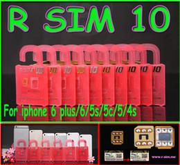 Wholesale Ios6 Iphone 4s - Newest Original R-SIM 10 rsim 10 R SIM 10 Unlock Card for iphone 4S 5 5C 5S 6 6plus iOS6. X-8.X Support Sprint AT&T T-mobile Cricket