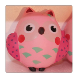 Wholesale Owl Solar Lights - Cute Squishy Kawaii Pink Owl Squishies Slow Rising Phone Strap Squeeze Break Kids Toy Relieve Anxiety Fun Gift Free Shipping