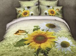 Wholesale Magnolia 3d Bedding - Wholesale-oil painted White magnolia flower 3d bedding set beautiful 4pcs bed set 40s wedding bedclothes reactive printing bedclothes 2930