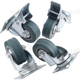 Wholesale Heavy Swivels - 4 X Swivel Heavy Duty Rubber Castor Caster Wheels 50mm