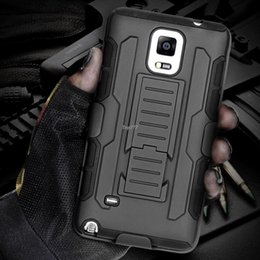 Wholesale Phone Case Hybrid Galaxy S4 - Future Armor Impact Hybrid Hard Mobile Phone Case For Samsung Galaxy S5 I9600 SV S4 I9500 SIV With Belt Clip & Kickstand Holster