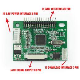 Lvds tft lcd controlador online-3.3V 30 Pin LVDS Turn To EDP Signal LCD Convertidor Tablero LCD Módulo para 1920 * 1080 P 1366 * 768P EDP Panel LCD