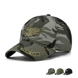 Wholesale Camouflage Baseball Hats - High Quality Camo Baseball Cap Men Camouflage Navy Seal Tactical Cap Mens Hats and Caps Bone Army Snapback for Adult