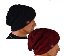 Wholesale Winter Bucket Hats For Men - Christmas Fashion Unisex Winter Knit Winter Hat for Women Men Beanies Bucket Reversible Skull Chunky Baggy Warm Cap Hats DHL 100pcs