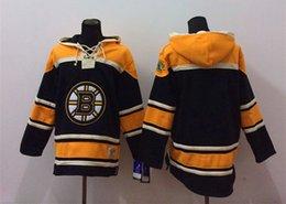 Argentina 2015 más nuevos hombres al por mayor de Boston Bruins en blanco negro con capucha jerseys hockey sudaderas con capucha cheap blank hockey sweatshirts Suministro