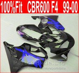 Canada Marque bleu foncé noir Parties du corps Fitment pour Honda CBR 600 F4 carénages personnalisés 1999 2000 kit de carénage CBR600 F4 99 00 CTSA supplier dark custom parts Offre
