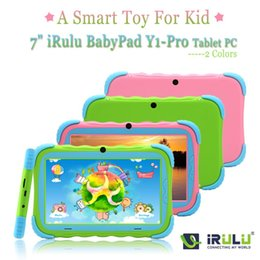 "Wholesale Tablet Spanish Toys - IRULU Brand BABYPAD 7"" Tablet PC for kids Dual Core Dual Camera A7 Android 4.2 8GB Free Game Learn Grow Play Kids Education TOY"