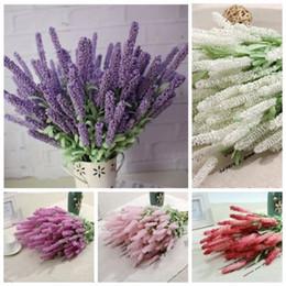 Wholesale Lavender Wedding Decorations For Home - 1 Bouquet Artificial Lavender Silk Flower Bridal Bouquets for Garden Wedding Fake Flower Floral Home Decoration 6 Colors 12 Heads