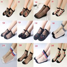 Wholesale Transparent Shorts Girls - Women's Socks New Top Quality Women Sweet Lace Ultrathin Crystal Sock Short Girl Transparent Socks Thin Ankle Sock For Ladies