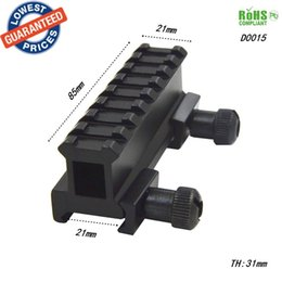 Wholesale Weaver Picatinny Dovetail Adapter - AloneFire D0015 Dovetail Weaver Picatinny Rail Adapter 20mm to 20mm 8 Slots Tactical Scope Extend rise Mount