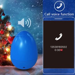 Wholesale Usb Camera Outdoor - EGG Bluetooth Wireless Speaker for Christmas Gifts Mini Music Player Outdoor Speaker TWS Bluetooth Speaker with Remote Camera MIS172