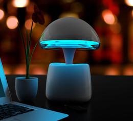 Altoparlante della lampada della luce del sensore di tocco online-Luce notturna Aladdin Lampada Altoparlante Bluetooth FM sveglia con telecomando Touch Control Pat Sensor Luce Camera da letto luce