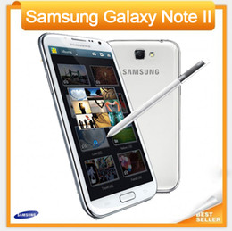 Wholesale Phone 2gb 16gb Note - Unlocked Original Phone Samsung Galaxy note II 2 N7100 8MP Camera Quad-Core 2GB RAM GSM 3G 5.5'' Touch Refurbished Phone